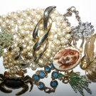 Collection Of Vintage Jewellery Pearls, Brooch, Necklace, Bracelet
