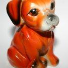 Vintage 1970's Kitsch China Pottery Rare Unusual Orange Dog
