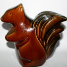 Vintage Athur Wood Pottery Squirrel Bank Money Box Made In England