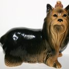 Vintage Coopercraft Yorkshire Terrier Dog Figurine Pottery