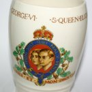Antique Myott Son and Co 1937 Coronation Of King George VI Pottery Beaker