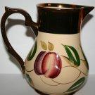 Antique Wade Harvest Ware Water Jug Vase Golden Gilt Design