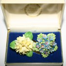 Vintage 1950' Signed Dorothy Ann China Brooch and Unsigned China Brooch Set of 2