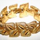 Stunning Golden Fauna Design Costume Jewellery Bracelet Signed 1621