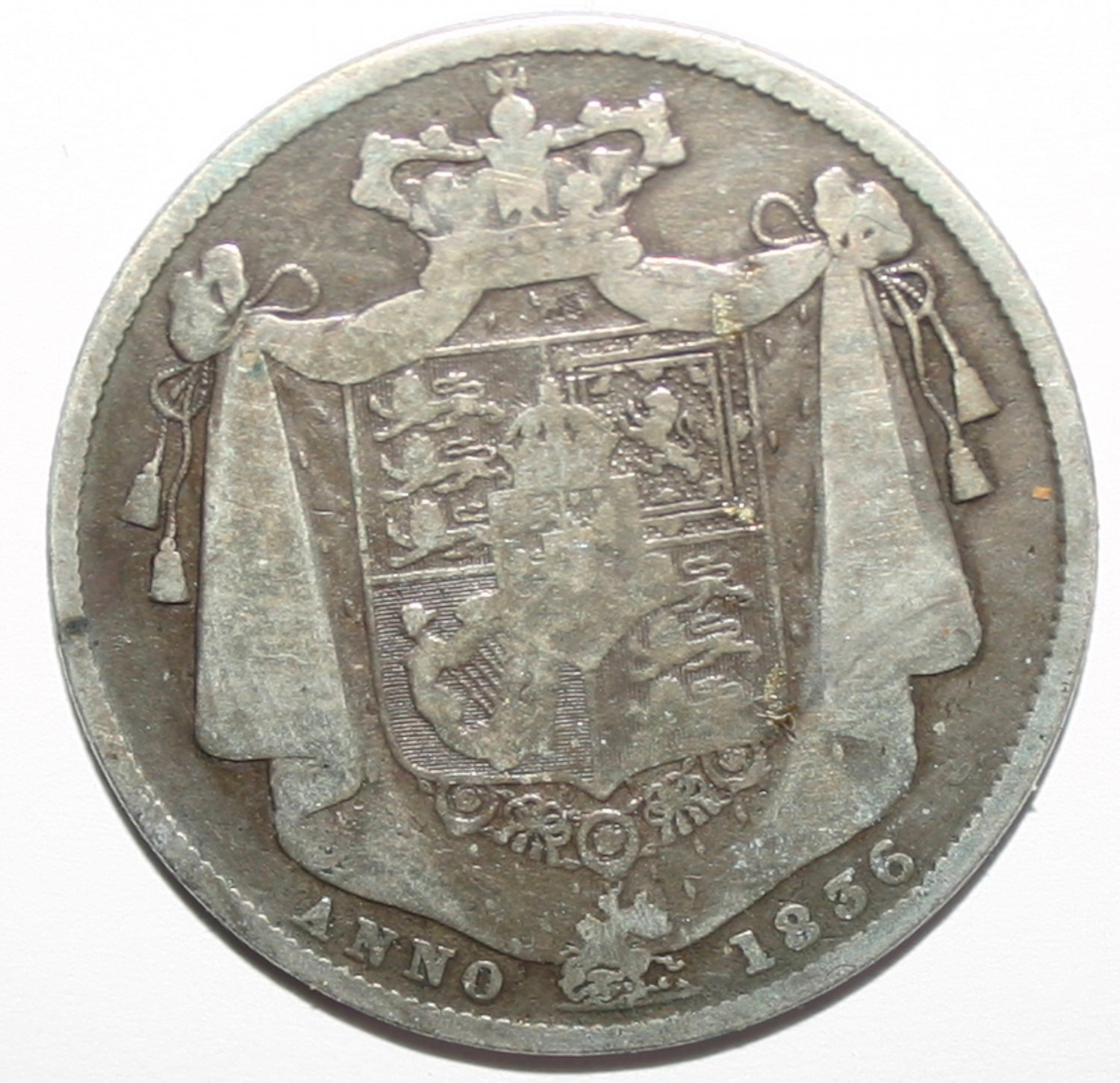 King William III 1836 Silver Half Crown Coin