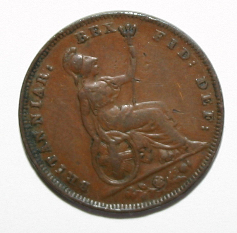 King William IIII 1834 Farthing Coin Beautiful Example