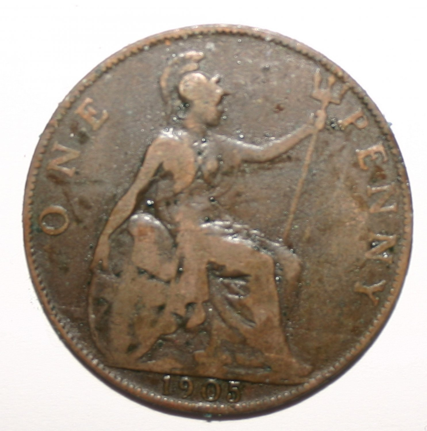 King Edward VII 1905 One Penny Coin