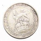 King George VII Silver Shilling 1902 Coin Very Fine Example