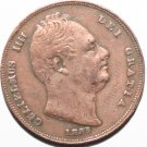 King William IIII 1835 Farthing Stunning Example