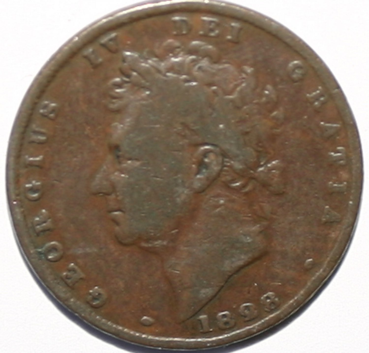 King George IV 1828 Farthing Coin Rare Collectors Item