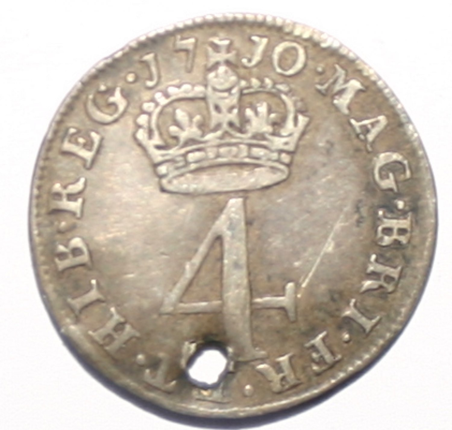 Queen Anne Four Pence Groat 1710 Coin Rare Collectors Item