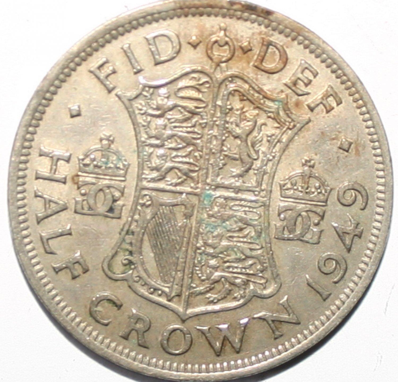 King George VI Half Crown 1949 Coin
