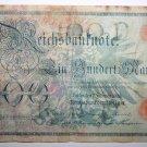 Banknote German One Hundred Mark Reichskassenschein 7 Februar 1908 Money Note