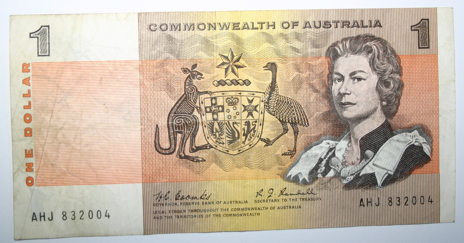Banknote 1967 Commonwealth Of Australia One Dollar Coombs/Randall Money Note
