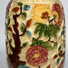 Large Floral Indian Tree Handpainted Antique Vase H.J.Wood Staffordshire England