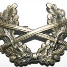 Rare Twin Crossed Swords Sliver Military Badge