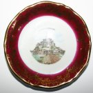 Le Mont St Michel Fine Porcelain Miniature Plate By Bardet Limoges France