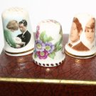 Rare Collectors Thimble Set Prince Charles Lady Diana and Floral Design