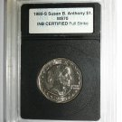 USA 1980-S Susan B. Anthony S1 MS70 Full Strike INB Certified Coin