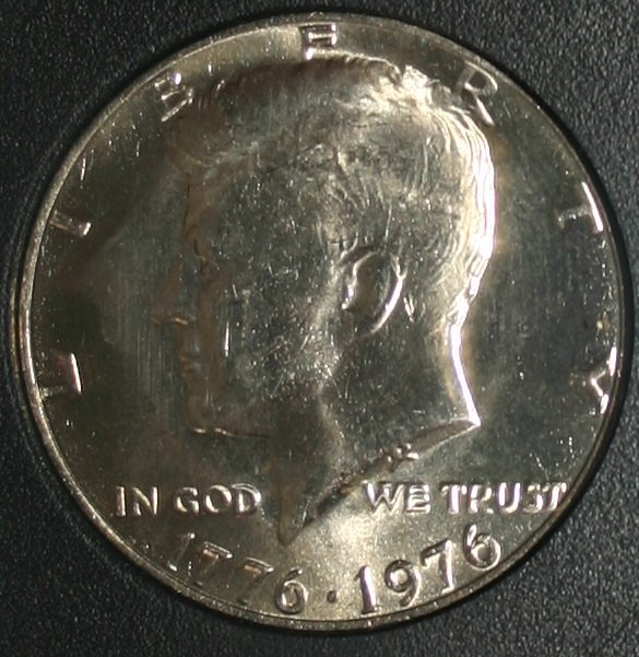 USA 1976-P Kennedy 50 Cent Half Dollar MS70 Full Strike INB Certified Coin