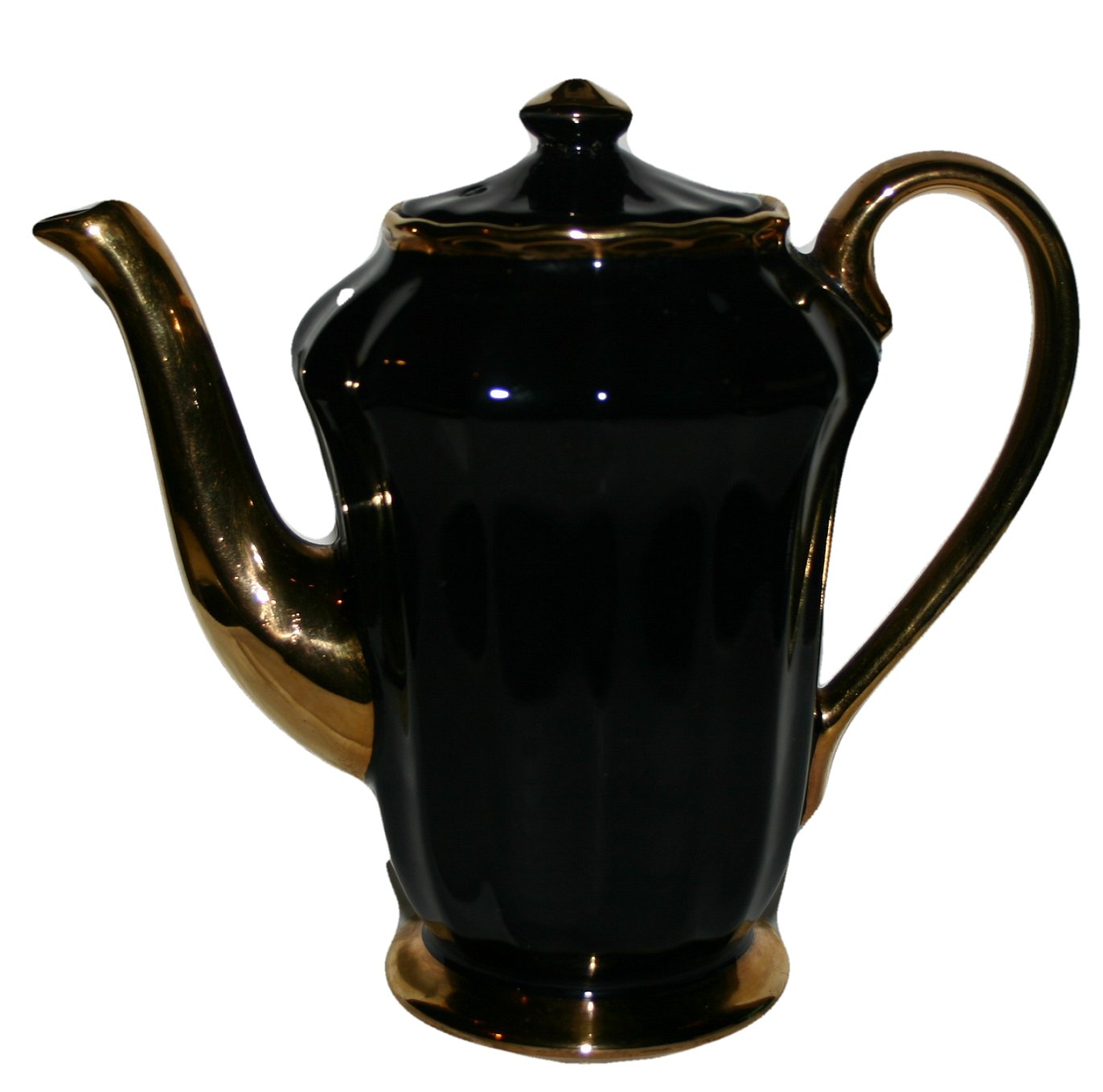 Wade Rare Black and Gold Coffee Pot Vintage Collectors Edition