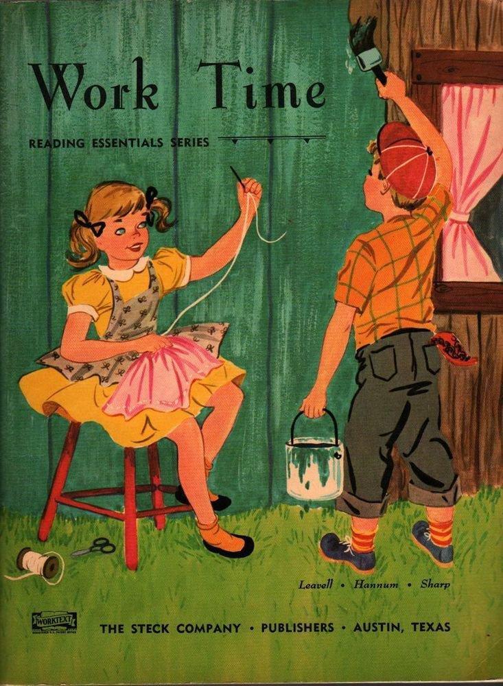 VINTAGE KIDS BOOK Work Time Reading Essentials Series Written by Adda Mai Sharp