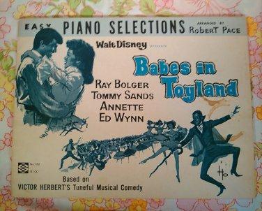 Walt Disney Presents Babes in Toyland - Robert Pace, arranger - 1961 - Vintage Sheet Music