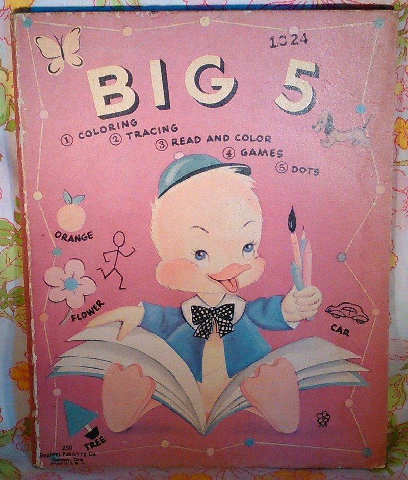 Big 5 Coloring Activity Uncle Wiggily - Vintage Book