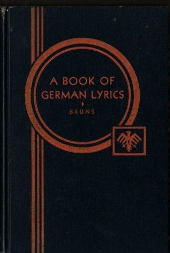A Book of German Lyrics - Friedrich Bruns - 1921 - Vintage Book