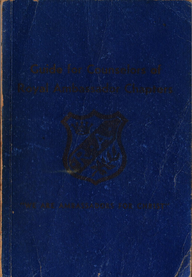 Guide for Counselors of Royal Ambassador Charters - J. Ivyloy Bishop - 1955 - Vintage Religious Book