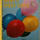 Baby's First Toys Board Book - 1967 - Vintage Kids Book