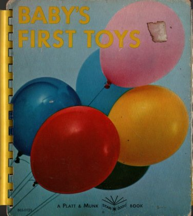 Baby�s First Toys Board Book - 1967 - Vintage Kids Book
