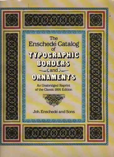The Enschede Catalog of Typographic Borders and Ornaments - 1986 - Vintage Graphic Design Book