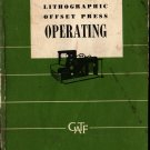 Lithographic Offset Press Operating - Charles W. Latham - 1964 - Vintage Reference Book