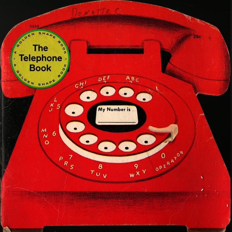The Telephone Book Things in My House a Golden Shape Book - Joe Kaufman (1968) Vintage Kids Book