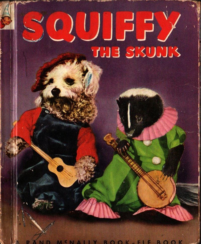 Squiffy the Skunk a Rand McNally Elf Book - George Neff & Grace Neff Brett (1953) Vintage Kids Book