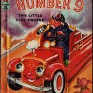 Number 9 The Little Fire Engine - Wallace Wadsworth - Eleanor Corwin - 1950 - Vintage Kids Book
