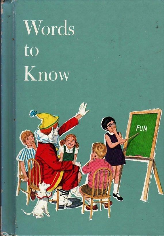 Words To Know Harry Bricker Yvonne Beckwith Dan Siculan (1986) Vintage Kids Book