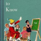 Words To Know Harry Bricker Yvonne Beckwith Dan Siculan (1986) Vintage Kids Book