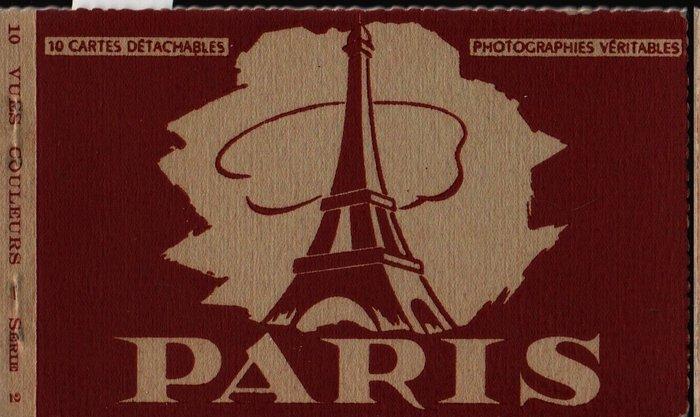 Paris 10 Cartes Detachables + Vintage Souvenir Postcard Book