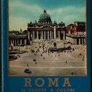 Roma 32 Verdute A Colori Parte I + Vintage Souvenir Postcard Book