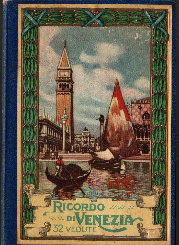 Ricordo di Venezia 32 Vedute + Vintage Souvenir Postcard Book
