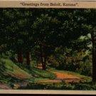 Greetings From Beloit, Kansas - Vintage Color-Litho Photo Postcard