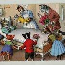 Mainzer Cats, Hospital Visit Maternity Ward, 4932, Hartung, Vintage Postcard