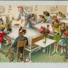 Mainzer Cats, Hospital Visit Maternity Ward, 4988, Hartung, Vintage Postcard
