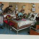 Mainzer Cats, Hospital Visit, 4879, Eugen Hartung, Vintage Postcard