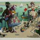 Mainzer Cats, Couple Gets a Picture Taken, 4905, Hartung, Vintage Postcard