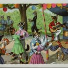 Mainzer Cats, Dance Party, 4863, Eugen Hartung, Vintage Postcard