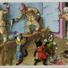Mainzer Cats, House Painters, 4855, Eugen Hartung, Vintage Postcard, Deckle Edge