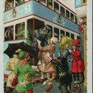 Mainzer Cats, Double Decker Bus Trip, 4985, Eugen Hartung, Vintage Postcard